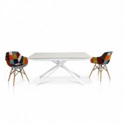 Tavolo vetro bianco – 160x90 2 all. cm.40