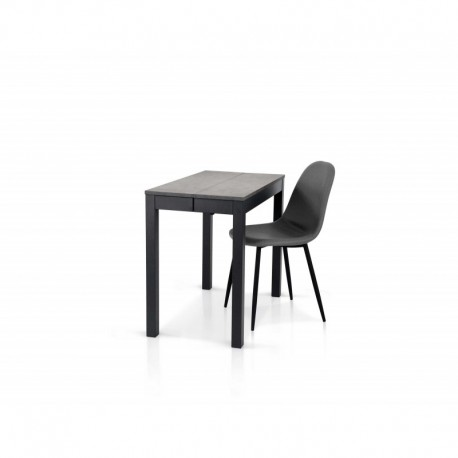 Consolle nobilitato finitura beton – 90x50 5 all. cm.50