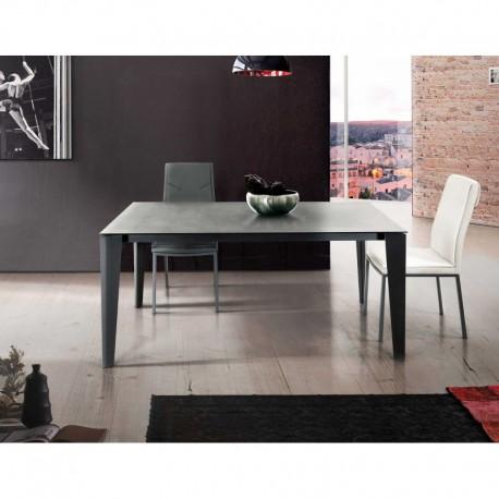 Tavolo vetro grigio – 160x90 2 all. cm.50