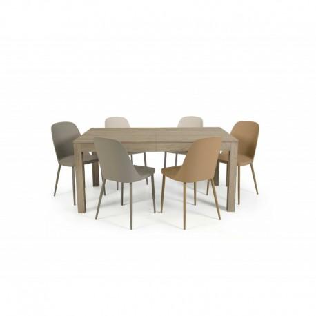 Tavolo nobilitato finitura frassino – 160x90 4 all. cm.43
