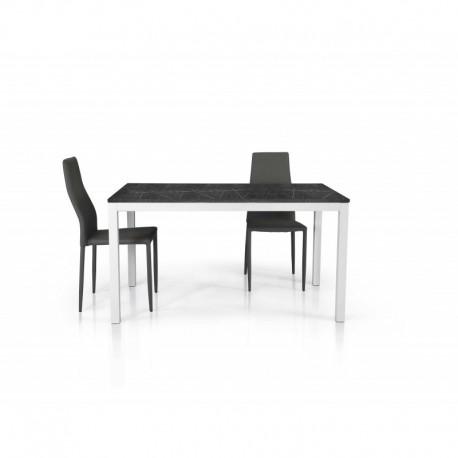 Tavolo nobilitato finitura marmo – 90x90 a libro