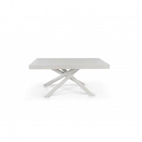 Tavolo nobilitato finitura bianco consumato – 160x90 2 all. cm.50