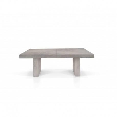 Tavolo nobilitato finitura beton – 160x90 5 all. cm.50