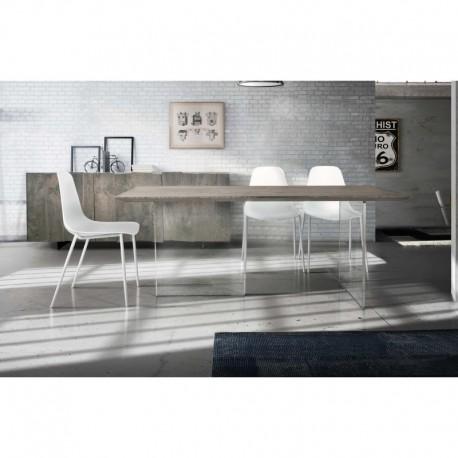 Tavolo rovere nodato finitura beton – 160x90 sp.4 fisso