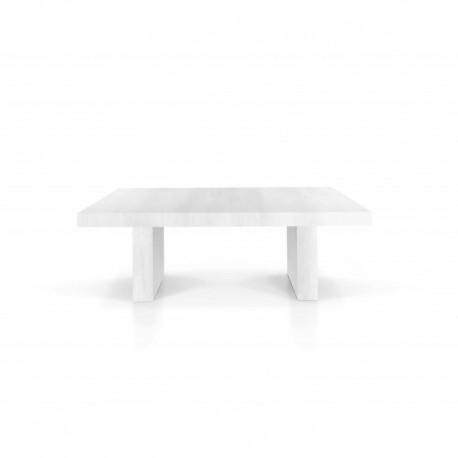 Tavolo nobilitato finitura bianco consumato – 160x90 5 all. cm.50