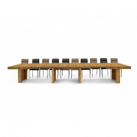 Tavolo nobilitato finitura rovere nodato – 160x90 5 all. cm.50