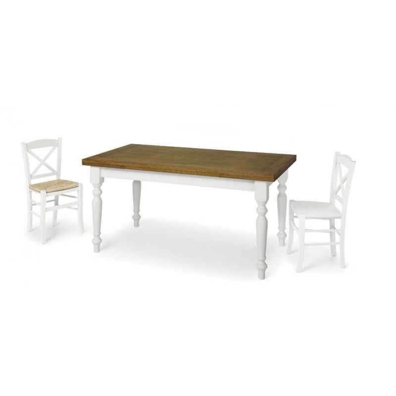 Tavolo in rovere bianco