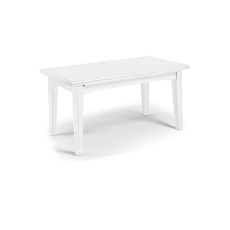 Tavolo bianco opaco allungabile
