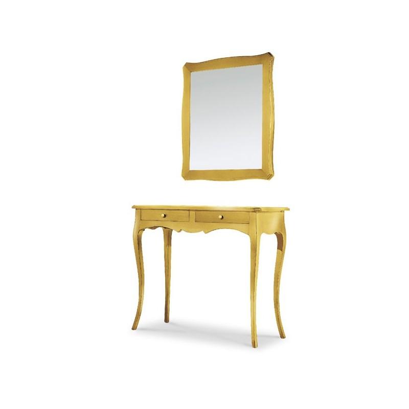 Cornice con specchio color oro stile classico - Specchio cornice oro ...