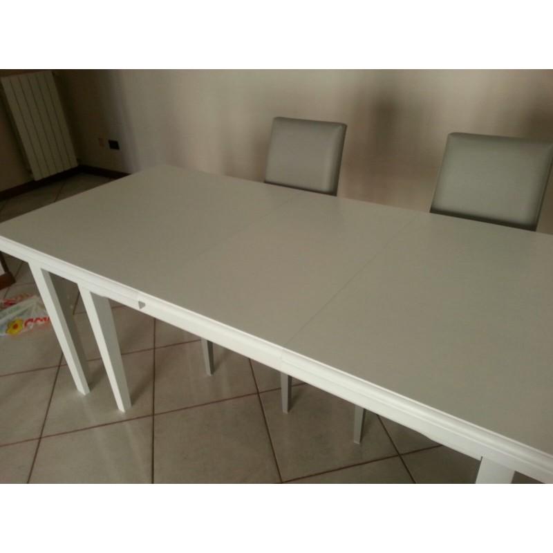 Tavolo Bianco Opaco.Tavolo Allungabile Bianco Opaco