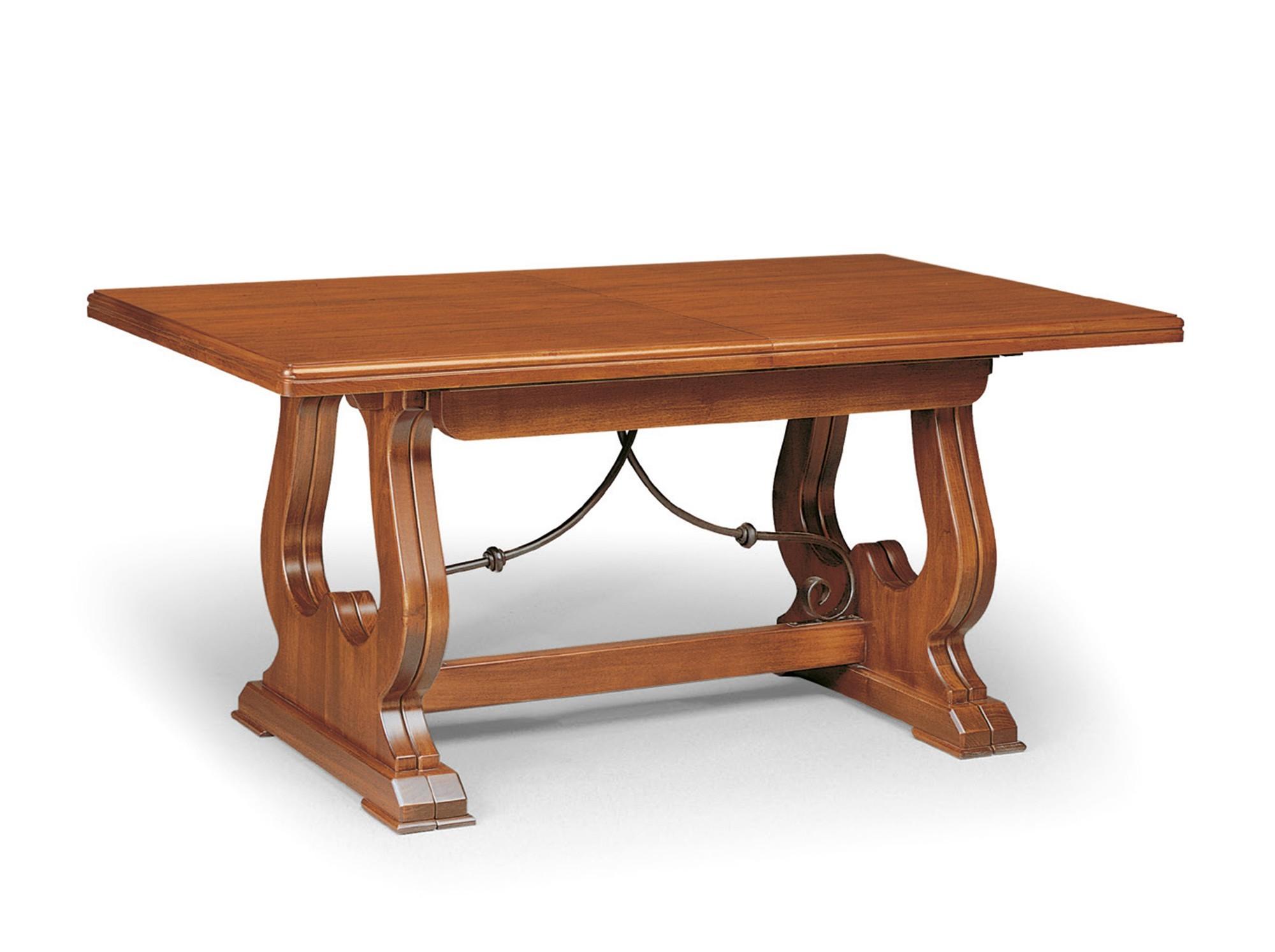 Tavolo in arte povera con ferro battuto e lucidatura color for Mobili sala da pranzo arte povera
