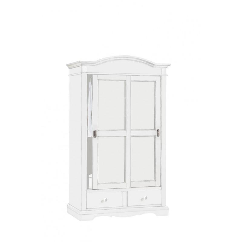 Armadio bianco con 2 porte scorrevoli mobile classico - Armadio con porte scorrevoli ...