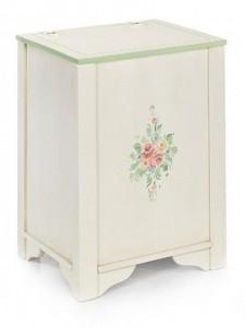 Cassapanca Baule fiori Porta legna nuovo art. 495 sardegna arte povera classico decorato