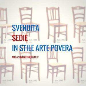 sedie arte povera - Magazzino SottoCosto