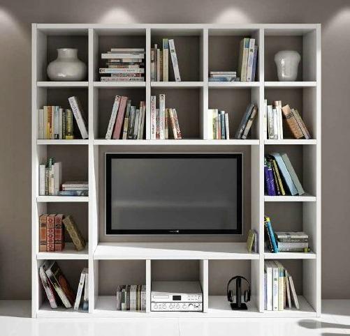 magazzinosottocosto composizione parete bianca porta tv