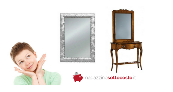 magazzinosottocosto specchio moderno prezzi specchio arte povera classico prezzo